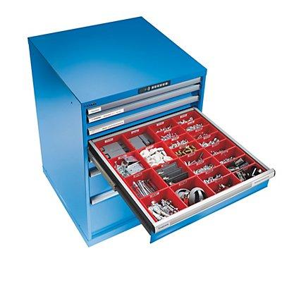 Lista Schubladenschrank, Stahlblech - HxB 1000 x 717 mm, 7 Schubladen