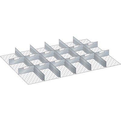 Schubladeneinteilungsset - Trennbleche verzinkt - für Höhe 50 mm