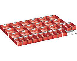 Kunststoffeinsatzkasten - für Schrankmaße 1023 x 725 mm - für Schubladenhöhe 75 mm