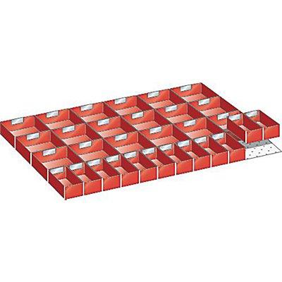 Lista Kunststoffeinsatzkasten - für Schrankmaße 1431 x 725 mm