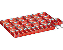 LISTA Kunststoffeinsatzkasten - für Schrankmaße 1023 x 725 mm - für Schubladenhöhe 75 mm