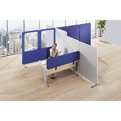 Premium Trennwand mit Fenster - Höhe 1600 mm