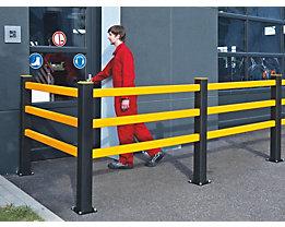 Pfosten für Sicherheitsgeländer - HxBxT 1171 x 110 x 110 mm