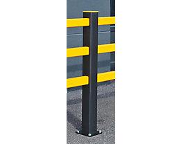 Pfosten für Sicherheitsgeländer - HxBxT 1171 x 110 x 110 mm - Mittelpfosten