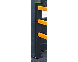 Pfosten für Sicherheitsgeländer - HxBxT 1171 x 110 x 110 mm - Endpfosten
