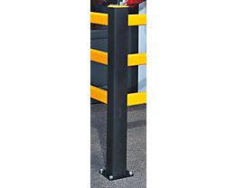 Pfosten für Sicherheitsgeländer - HxBxT 1171 x 110 x 110 mm - Eckpfosten