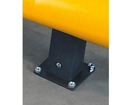 Pfosten für Verkehrsbarriere - Höhe 400 mm - Endpfosten