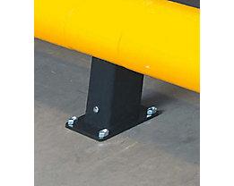 Pfosten für Verkehrsbarriere - Höhe 400 mm - Mittelpfosten