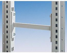 Regalverbinder für doppelseitiges Regal - Länge 200 mm - lichtgrau RAL 7035