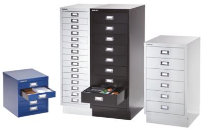 Bisley Schubladenschrank - 6 Schubladen für Format DIN A3