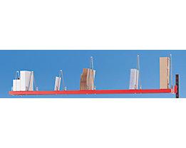 LEGRO Kartonagen-Magazinbord - HxBxT 50 x 2000 x 400 mm - 9 Kartonagen-Trennbügel