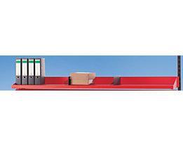 LEGRO Ablagebord mit Rückwand - HxBxT 150 x 2000 x 400 mm - inkl. Adapter für Holmbefestigung