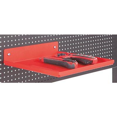 Ablageschale - HxBxT 50 x 250 x 250 mm - adaptierbar an Lochplatte