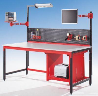 Packtisch PROFI LINE - Komplett-Packstation mit Stahlschublade - inkl. Metallrückwand