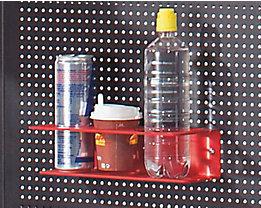 Dosen- und Flaschenhalter - HxBxT 120 x 300 x 130 mm - für Packtisch PROFI LINE