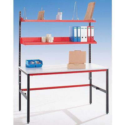 LEGRO Packtisch STARTER - mit Ablagebord - Arbeitsfläche BxT 1600 x 850 mm