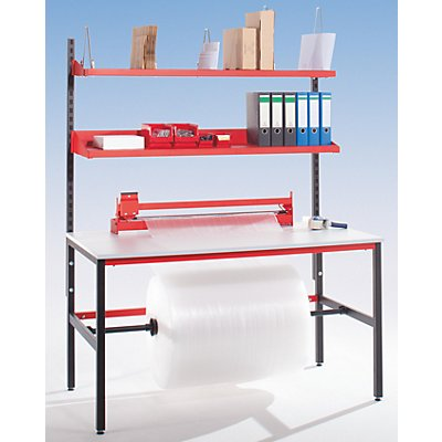 LEGRO Packtisch STARTER - mit Ablagebord und Schneidgerät - Arbeitsfläche BxT 1600 x 850 mm