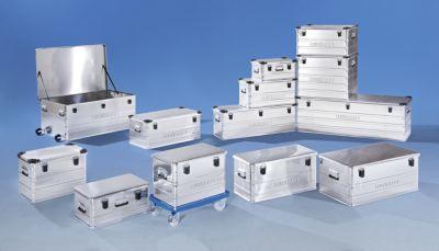 EUROKRAFT Aluminiumbehälter ohne Stapelecken - Inhalt 76 l, LxBxH 592 x 388 x 409 mm