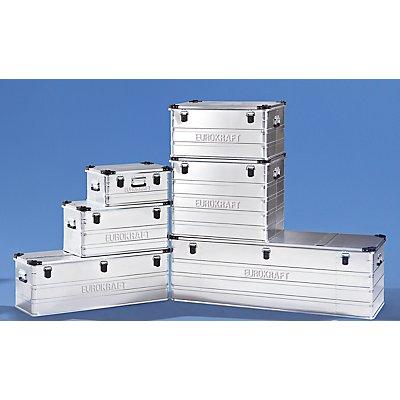 EUROKRAFT Aluminiumbehälter mit Stapelecken - Inhalt 157 l, LxBxH 782 x 585 x 412 mm
