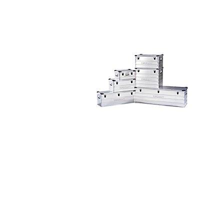 EUROKRAFT Aluminiumbehälter mit Stapelecken - Inhalt 163 l, LxBxH 1182 x 385 x 412 mm