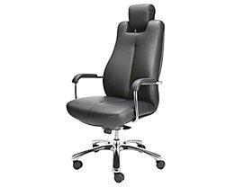Siège de bureau pivotant - fauteuil de bureau, cuir souple