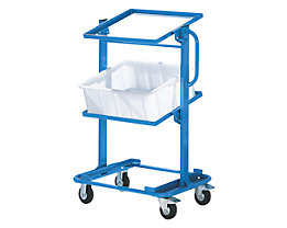 EUROKRAFT Chariot porte-bacs - avec cadres pour 1 support fixe et 2 supports inclinables