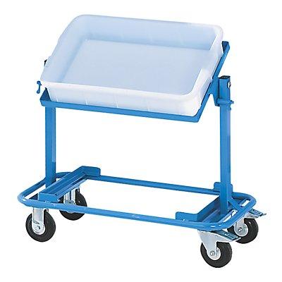 EUROKRAFT Kommissionierwagen - mit 2 Etagen, Tragfähigkeit 150 kg - blau