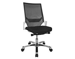 Topstar Siège de bureau pivotant à assise galbée - piétement blanc, dossier résille