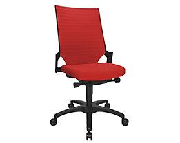Topstar Siège de bureau pivotant à assise galbée - piétement noir, dossier rembourré