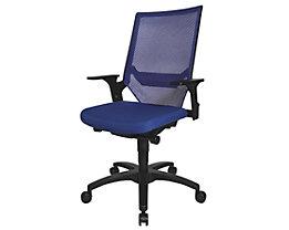 Topstar Siège de bureau pivotant à assise galbée - piétement noir, dossier résille