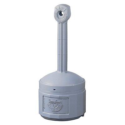 Cendrier de sécurité sur pied, en plastique - capacité seau intérieur 15 l