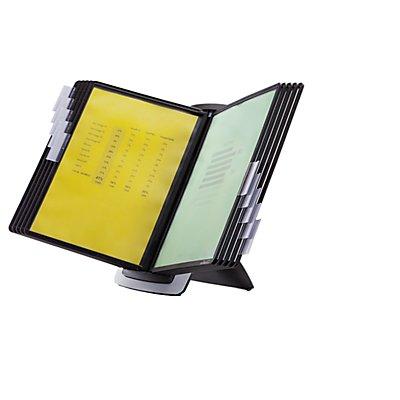 Durable Tischständer-Set SHERPA STYLE - 10 Klarsichttafeln DIN A4 - inkl. Aufsteckreiter