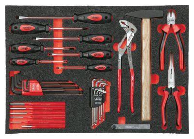 Werkzeugset in Weichschaumeinlage - Handwerkzeuge - 55-teilig