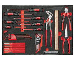 Werkzeugset in Weichschaumeinlage - Handwerkzeuge