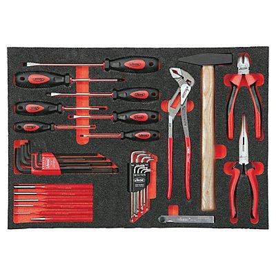 VIGOR Werkzeugset in Weichschaumeinlage - Handwerkzeuge - 55-teilig