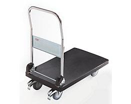 Chariot plate-forme en plastique - 1 barre de poussée pliable