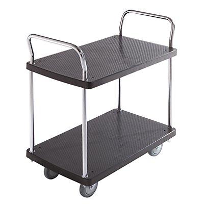 Servier-Tischwagen - 2 Etagen, 2 Schiebebügel