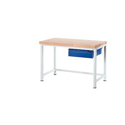 RAU Werkbank, stabil - 1 Schublade Größe L, 1 Querstrebe