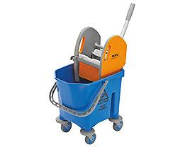 QUIPO Kunststoff-Reinigungswagen - 1 x 25-l-Einfachfahreimer