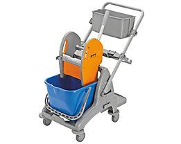 QUIPO Kunststoff-Reinigungswagen - 1 x 15-l-Einfachfahreimer