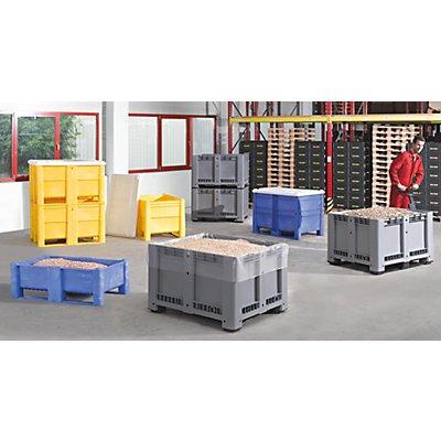utz Großbehälter aus Polyethylen - Inhalt 600 l, 2 Kufen, Boden-Randöffnung