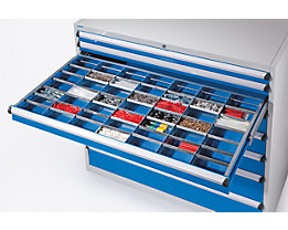 Schubladeneinteilungsset - 6 Längsteiler, 7 Querteiler - für Schubladenhöhe 100 mm