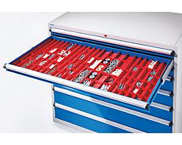 Kompaktmuldenset - 21 Muldenreihen mit Steckwänden - für Schrankmaße 1300 x 750 mm