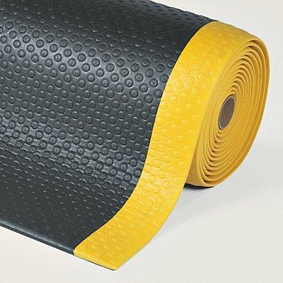 Bodenmatte, ergonomisch - pro lfd. m, Vinylschaum, schwarz / gelb