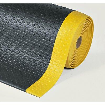 Notrax Bodenmatte, ergonomisch - pro lfd. m, Vinylschaum, schwarz / gelb
