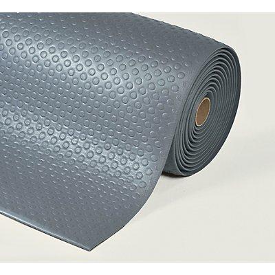 Notrax Bodenmatte, ergonomisch - pro lfd. m, Vinylschaum, grau
