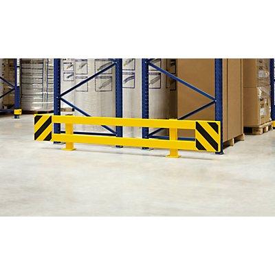 MORAVIA Regalschutz-Planken-Set - für Doppelregal, ausziehbar 1700 – 2100 mm