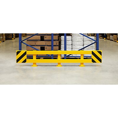 MORAVIA Regalschutz-Planken-Set - für Doppelregal, ausziehbar 2300 – 2700 mm