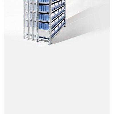 EUROKRAFT Steckregal mit Regalkästen - 48 Kästen, 10 Fachböden, Tiefe 336 mm