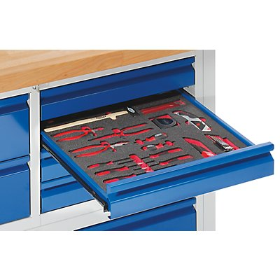 VIGOR Werkzeug-Sortiment ESSENTIAL - Kombi-Werkzeug-Set, in Hartschaumeinlage
